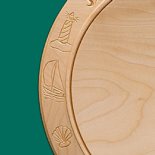 engraved decoration Saling Golf cheese board