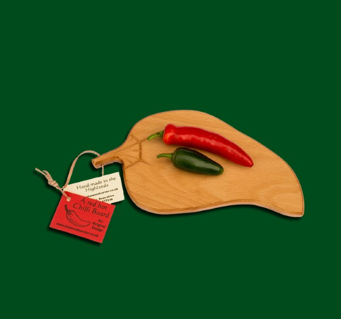 Hand carved Chilli Board