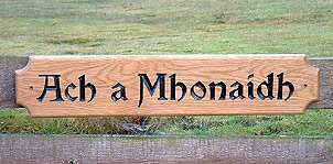 Gaelic House sign - House Signs