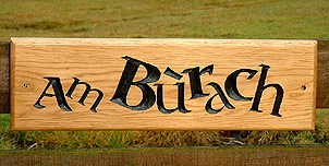 Am Burach - House Signs