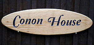 Conon House - House Signs
