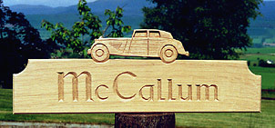 McCallum oak sign - House Signs