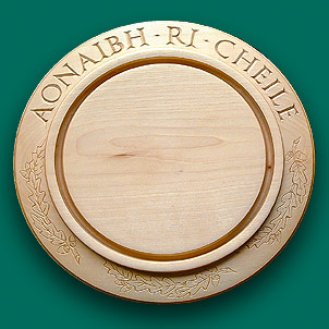 Gaelic inscription on a bread board